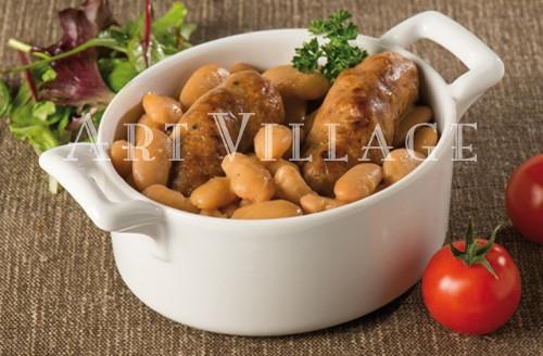 Saucisses de porc fermier aux haricots tarbais