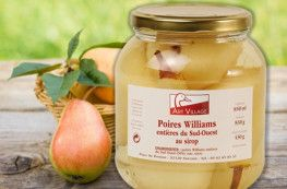 Poires Williams enti?res du Sud-Ouest au sirop