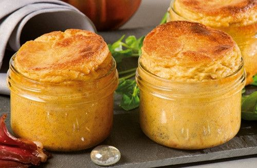 Souffl? au confit de canard (30% de foie gras)