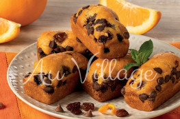 Mini-Cakes aux ?corces d?orange et au chocolat