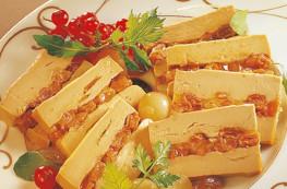 Marquise de bloc de foie gras aux raisins et au Sauternes
