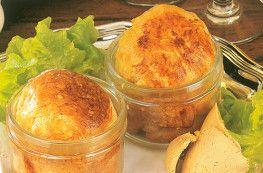 Lot de 2 soufflés au foie de canard (30% de foie gras)