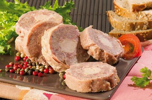 Cou de canard farci au foie de canard (20 % de foie gras)