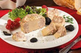 La Terrine au Foie de canard et jus de truffes noires (20% de foie gras)