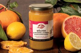 Délice d'oranges, citrons, pamplemousses