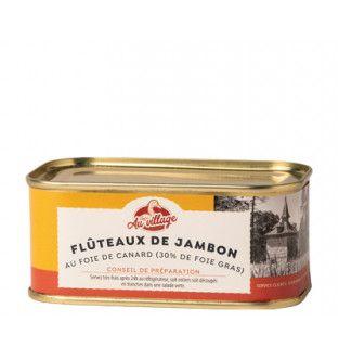 Lot de 2 flûteaux de jambon au foie de canard (30%) en gelée